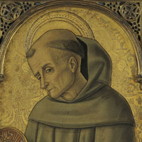De heilige Bernardinus van Siena