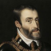Keizer Karel V in harnas