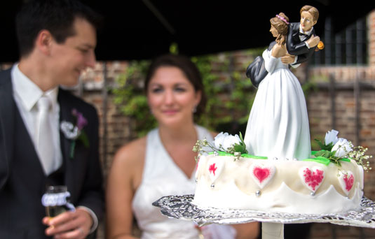 Bruidstaart Buiten