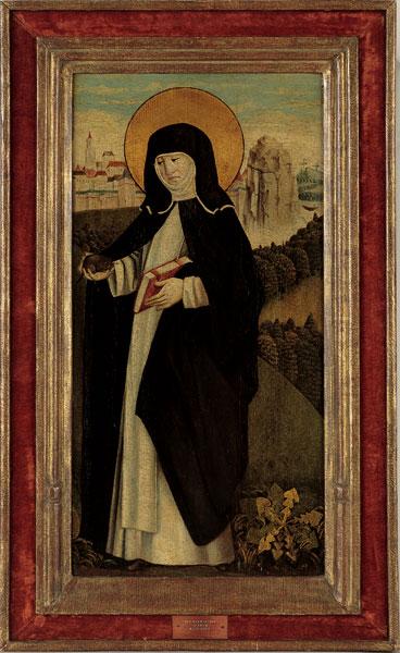 De heilige Gertrudis van Nijvel