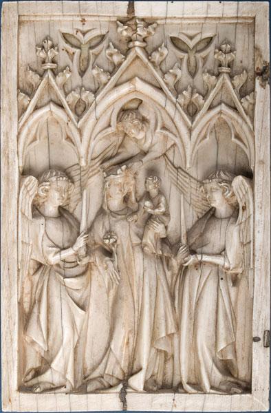 Maria met het Christuskind tussen twee engelen